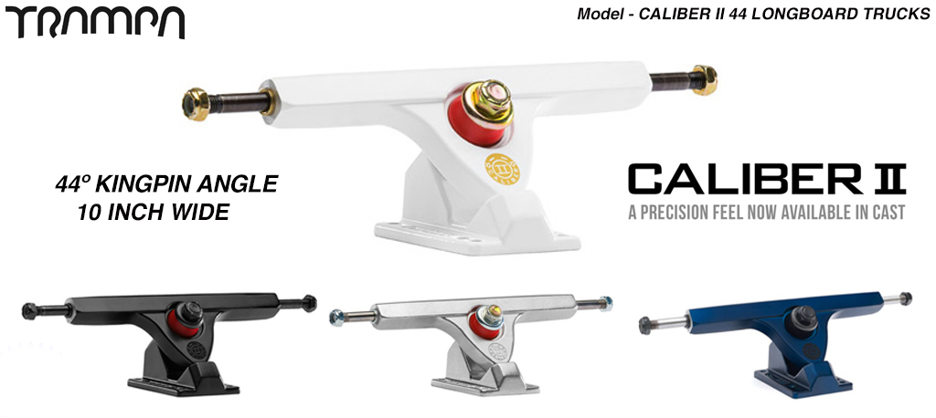 Caliber II 44º Baseplate 9 Inch wide shortboard Truck - Suitable for high speed