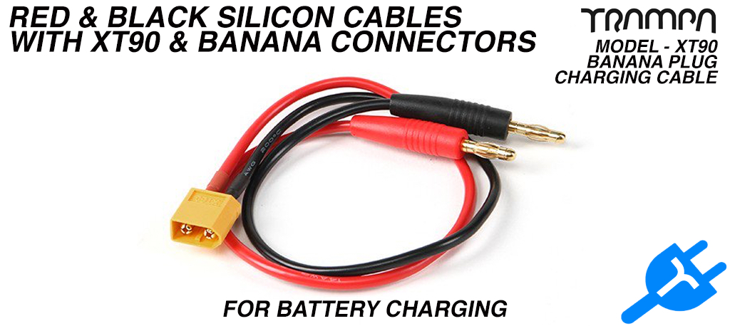 XT90 Banana Plug - Battery Charging cable