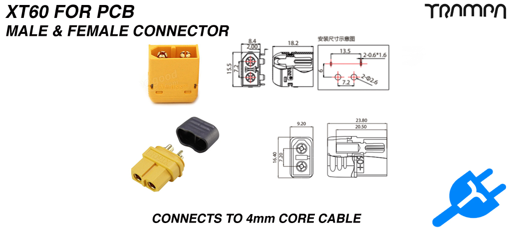 XT60 Connectors Male & Female
