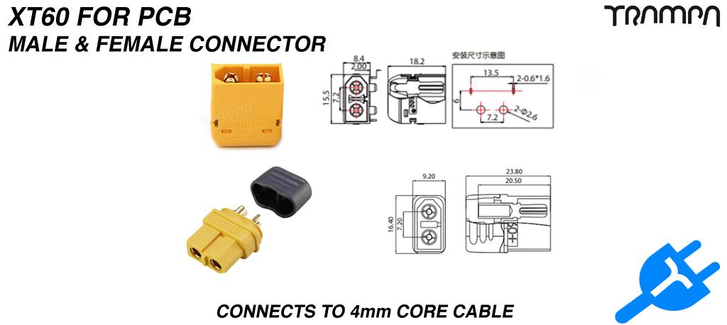 XT60 Connectors Male & Female