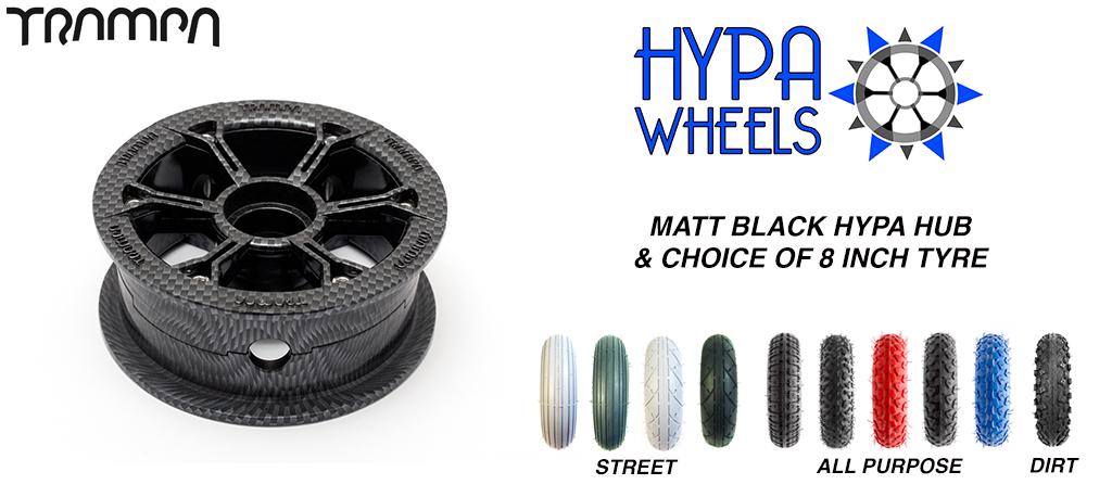 CARBON Print Hypa hub & Custom Tyre