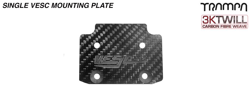 Carbon Fibre mounting Plate for Single VESC