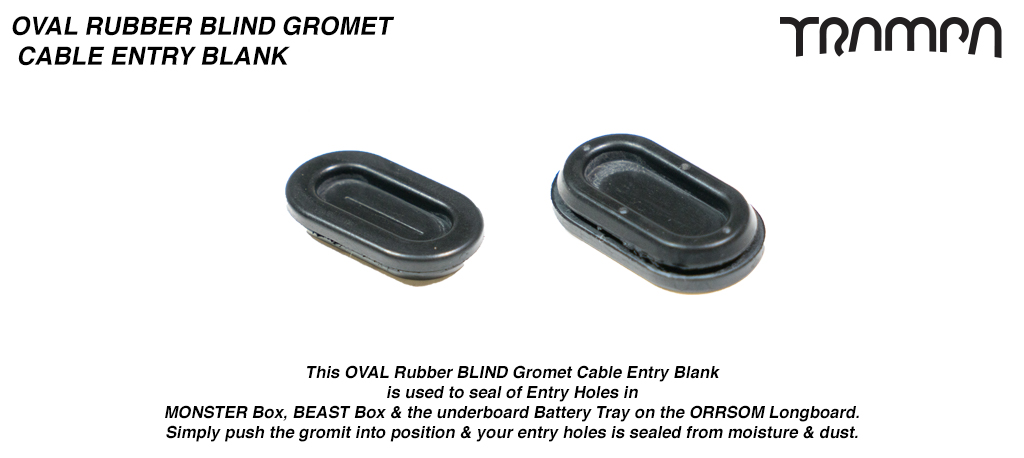 OVAL Rubber BLIND Gromit Cable Entry Hole - Fits in Monster Box side panels for water proof assistance & Neat Cabeling