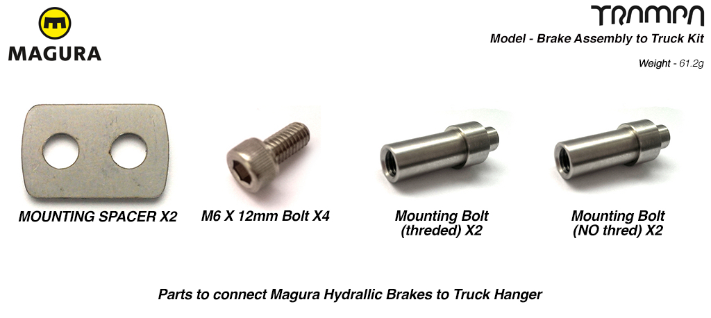 Magura Brake Assembly to Truck Kit - Marine grade Stainless Steel
