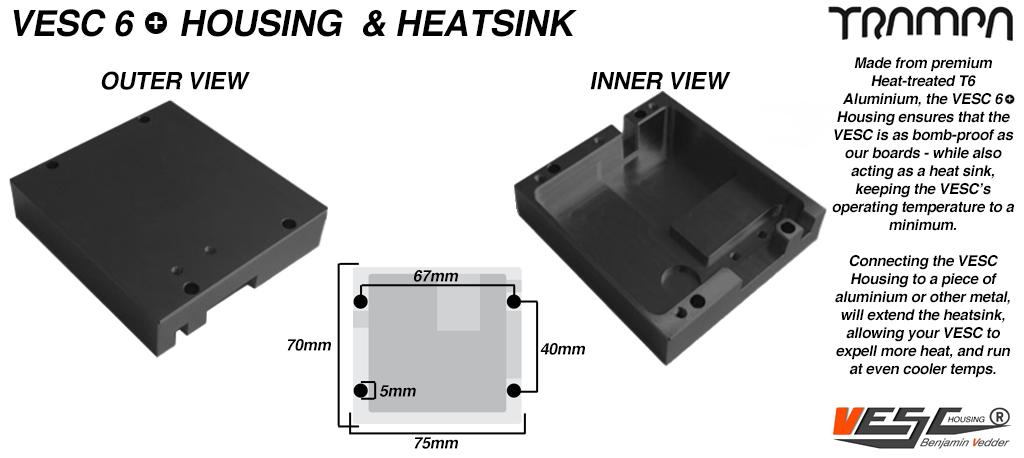 VESC 6 CNC Aluminum Heat Sink Silicone Sealed Housing
