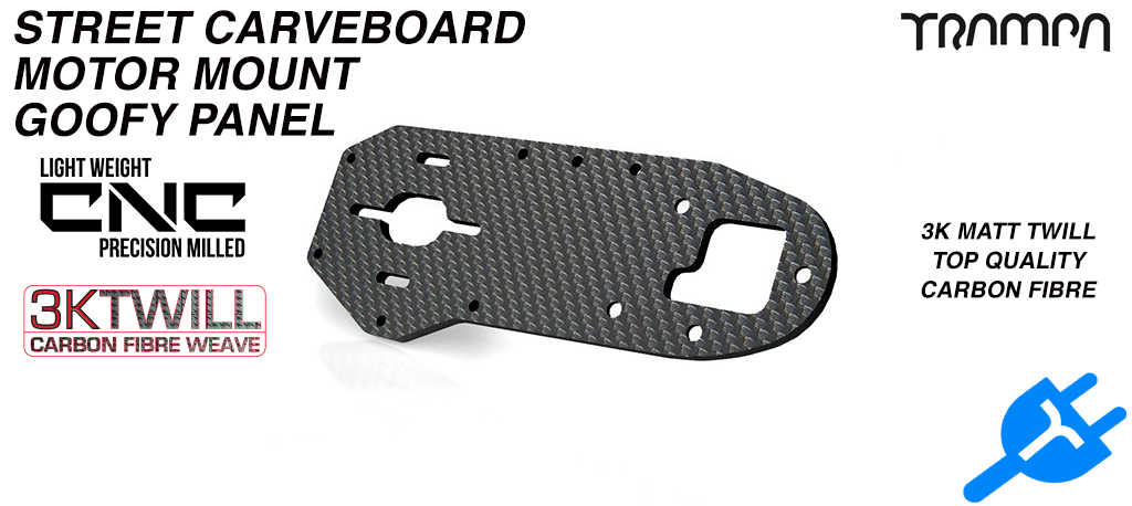 STREET Carver Truck Carbon Fiber Motor mounting panel made from 3k Twill Carbon Fibre 5mm Thick -  GOOFY