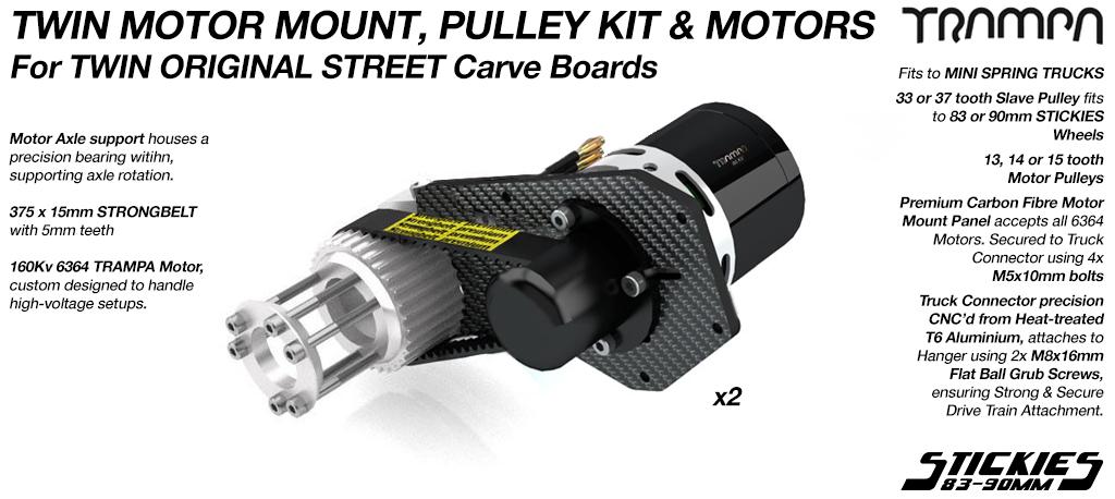 TWIN MOTOR Original STREET Carver Complete Motormount & Pulley Kit