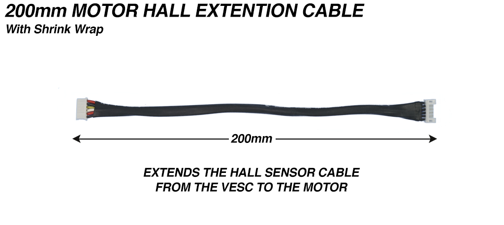 200mm Motor Hall Sensor Extension cable - 6way JST connection