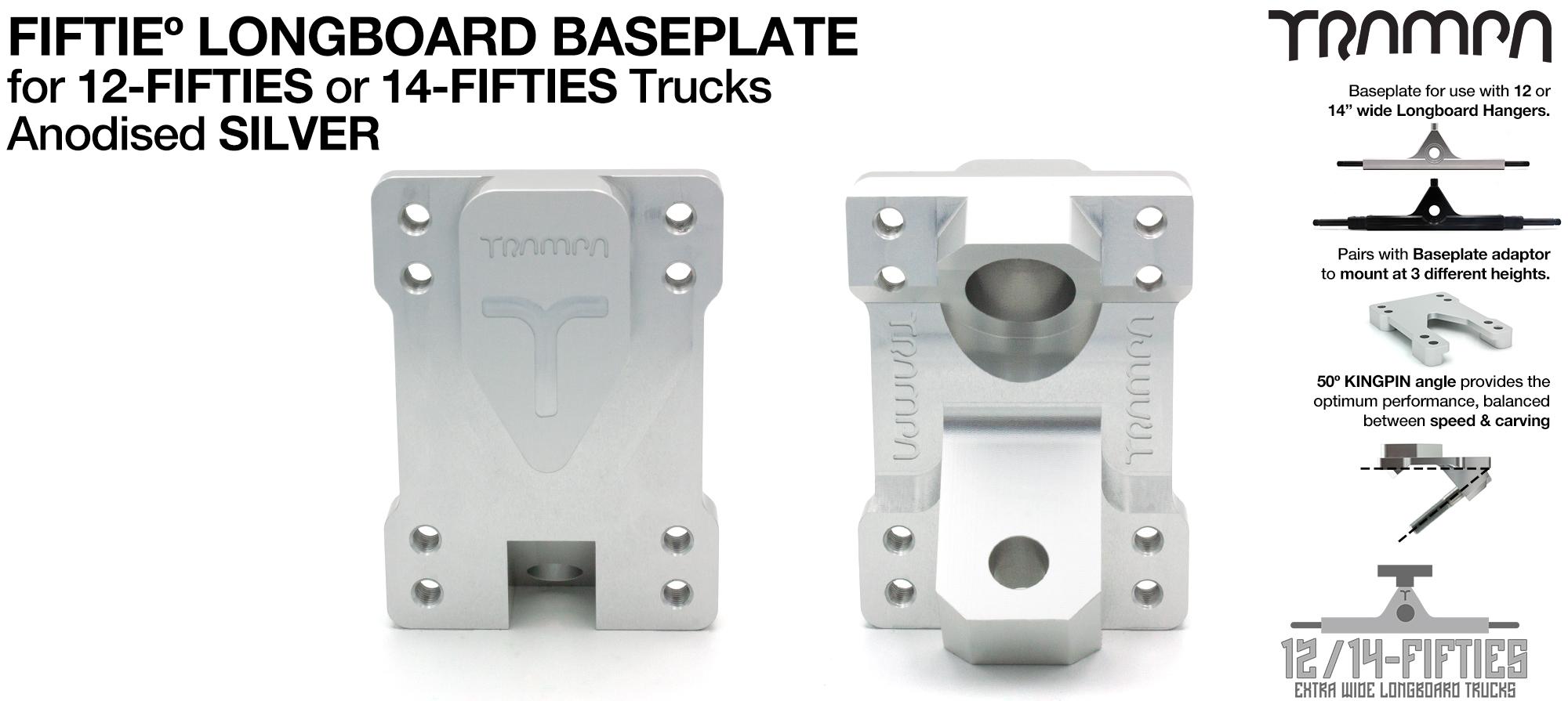 TRAMPA 12Fifty Extra Wide Longboard Truck Baseplate