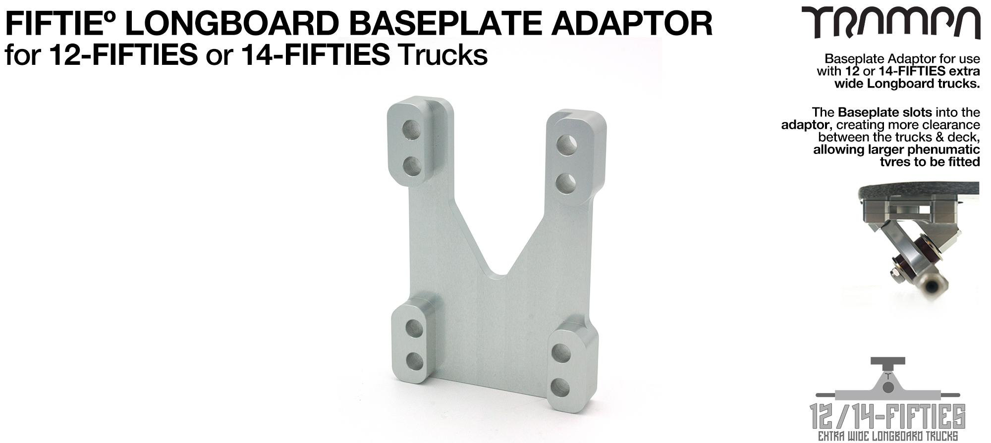 TRAMPA 12Fifty Extra Wide Longboard Truck Baseplate ADAPTOR