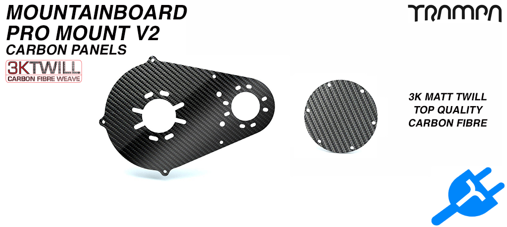 PRO Belt Motor Mount Carbon Panels - V2