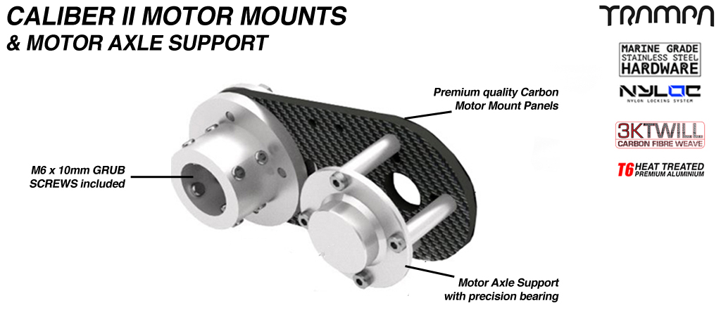 TWIN Caliber II CARBON Fibre Motormount with Axle support
