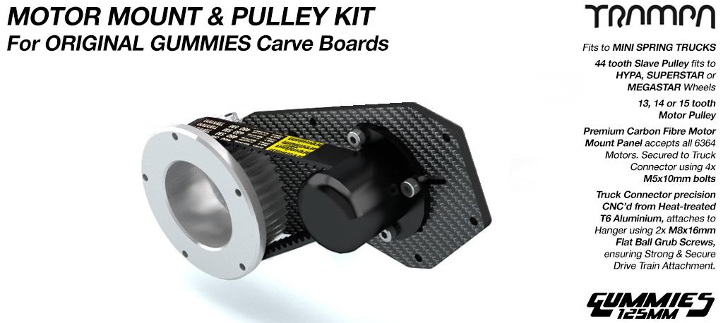 Original GUMMIES Carver Motormount with 44 tooth Pulley kit - SINGLE