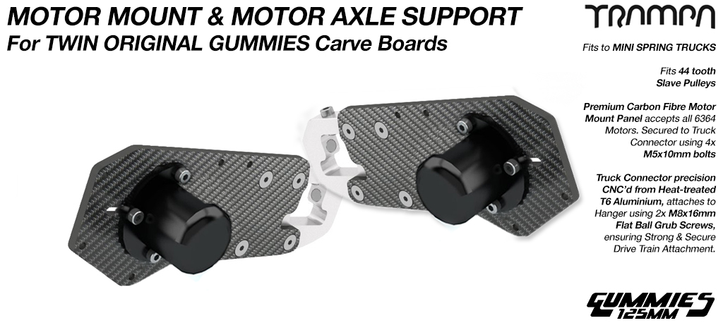 Original GUMMIES Carver Motor Mount with Motor Axle Support kit - TWIN