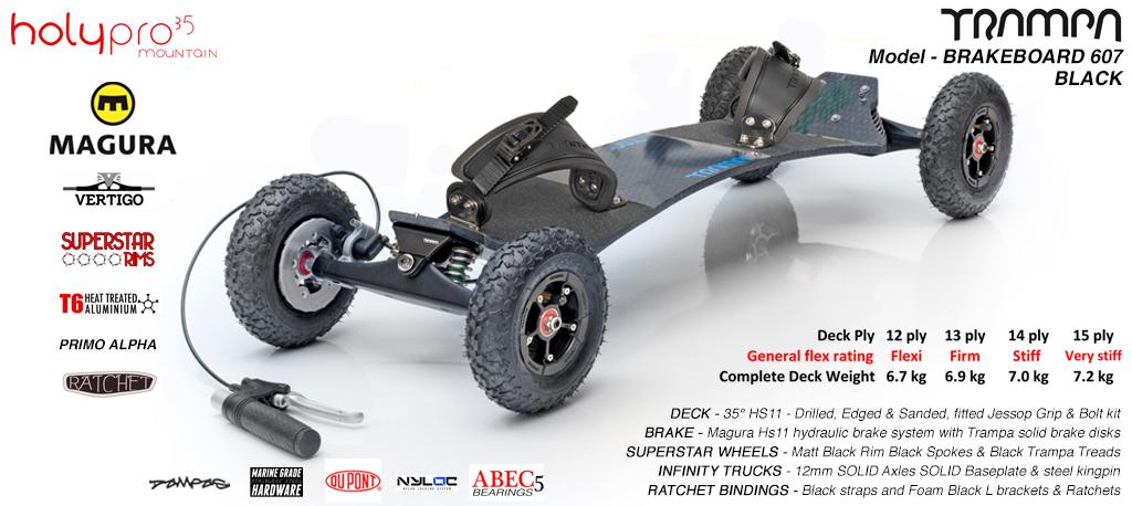 35° TRAMPA Brake-Board Using MAGURA Hydraulic Brakes on INFINITY Trucks SUPERSTAR wheels