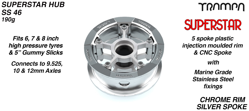 Superstar Hub - PIMP Chrome Rim with Silver anodised spokes