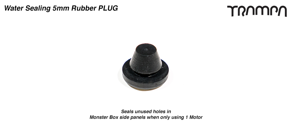 5mm Rubber PLUG  - Seals unused holes in Monster Box side panels when only using 1 Motor