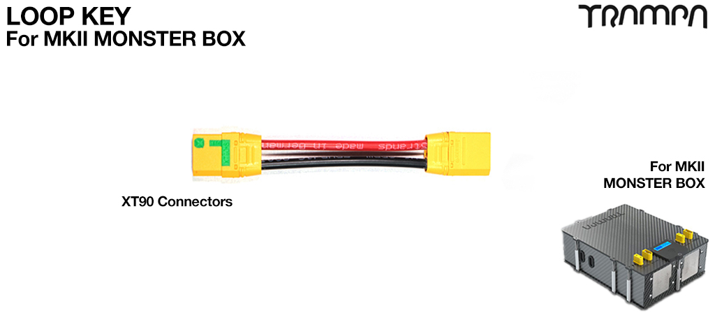 Monster Box Loop Key - Fixes into the lid of the Monster Box to make the power connection