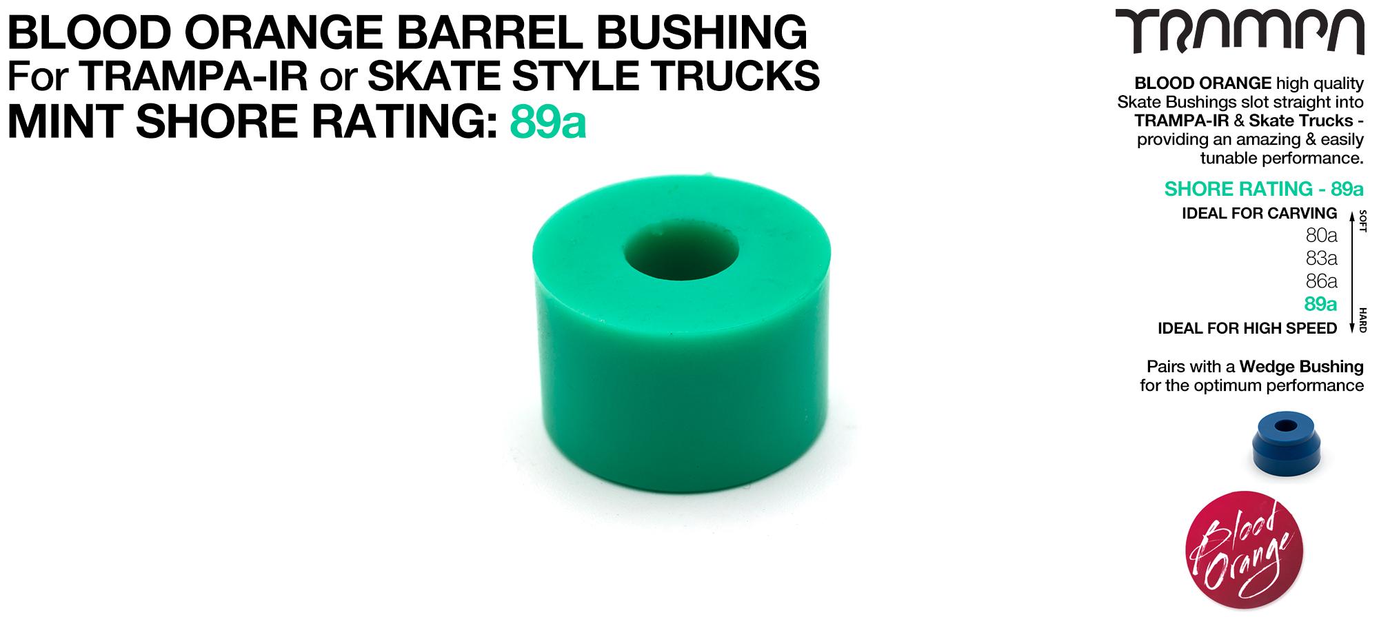 Blood Orange Bushings 89a Lubricated Internal Barrel Set - RED