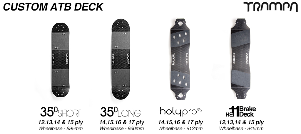 CUSTOM Mountainboard Pre-Drilled Deck with Grip & Bolt Kit