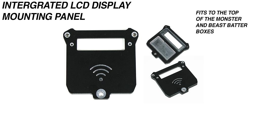 Integrated LCD Battery indicator Display & internal NRF Housing mounting Panel