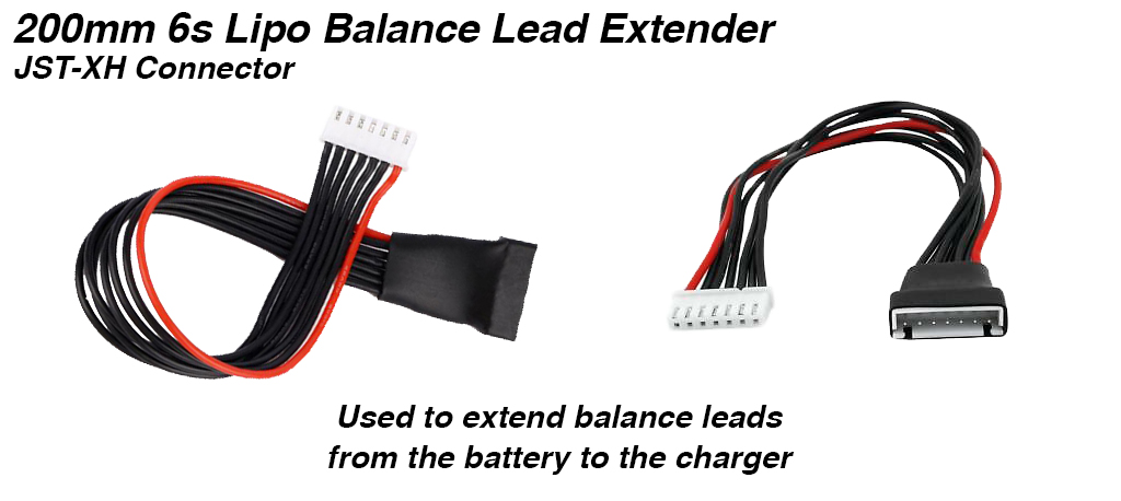 200mm Balance Lead Extender for 6s Lipo - JST-XH Connector