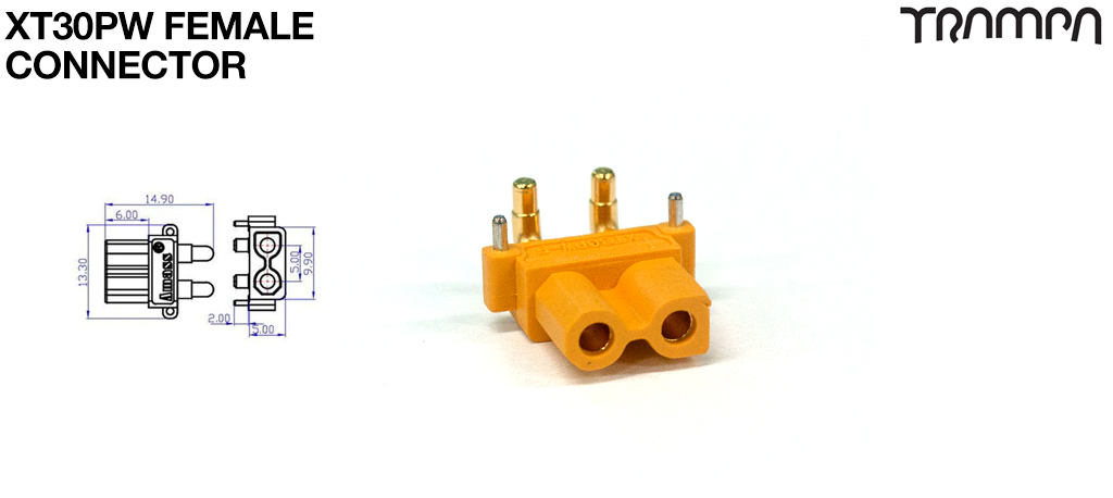 XT30UPB For PCB Female Yellow