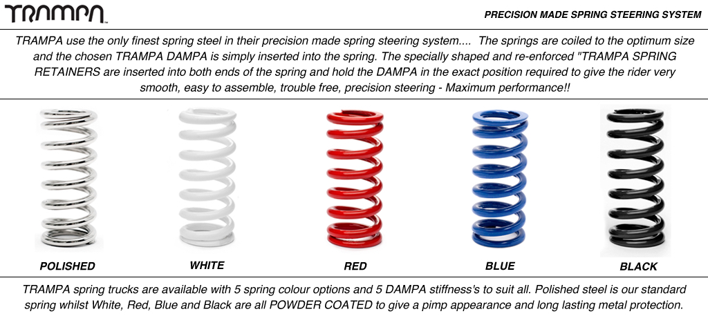 Custom Colour Spring - Powdercoated Sprung Steel Steering Springs