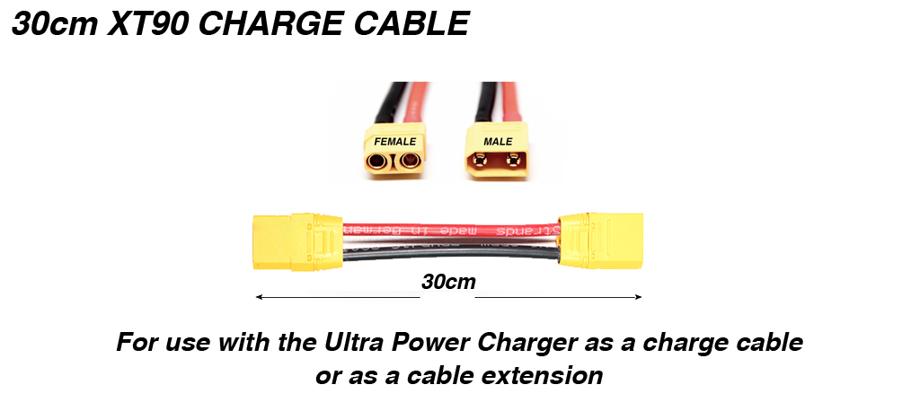 30cm XT90 Charge Cable Extension