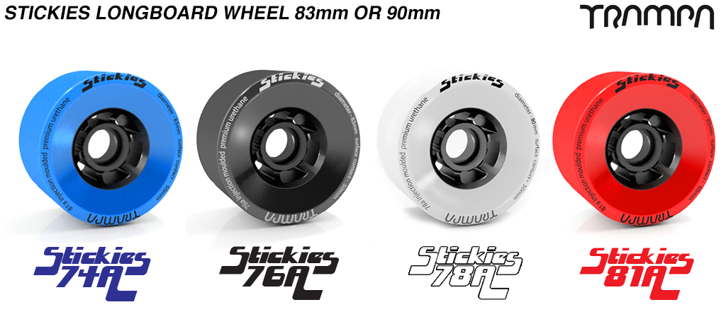 STICKIES Longboard & Street Carver Wheel Super High Rebound 83 x 52mm