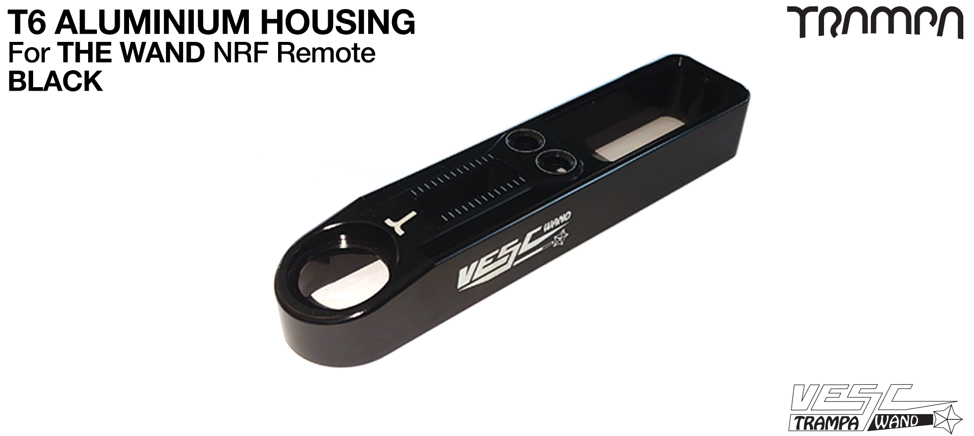 WAND T6 Aluminium Housing - BLACK Anodised