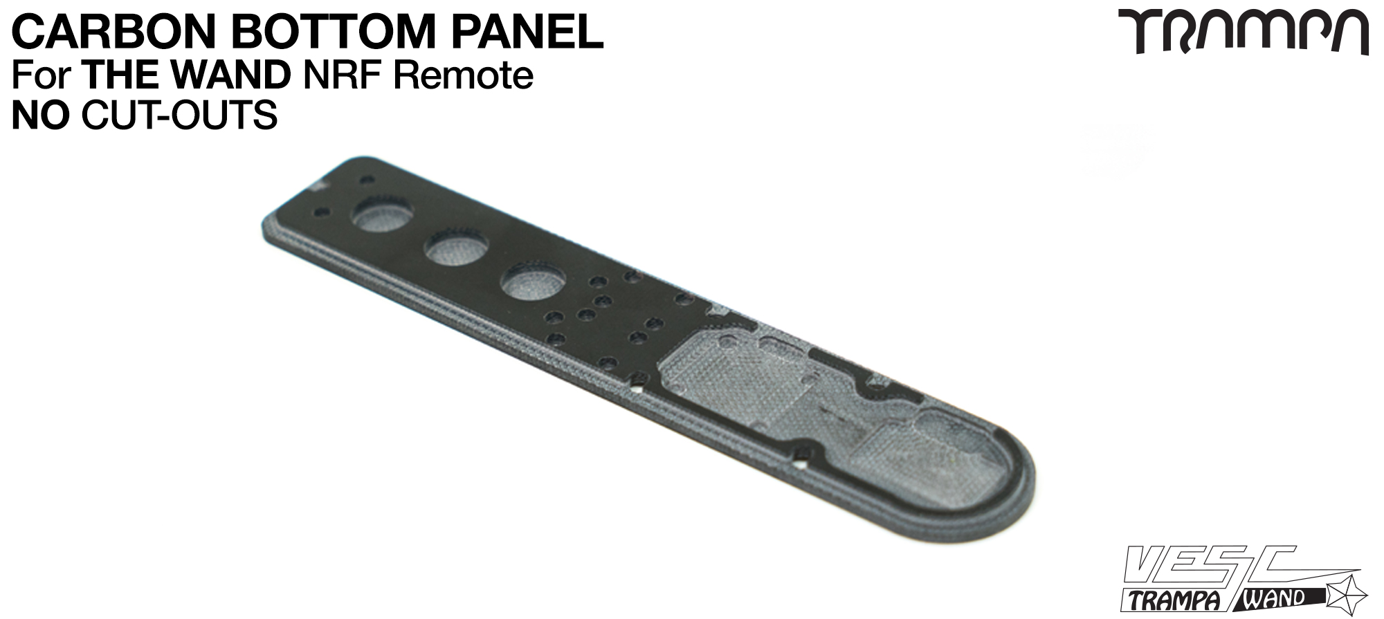 WAND Part D Carbon Bottom Panel - No Trigger