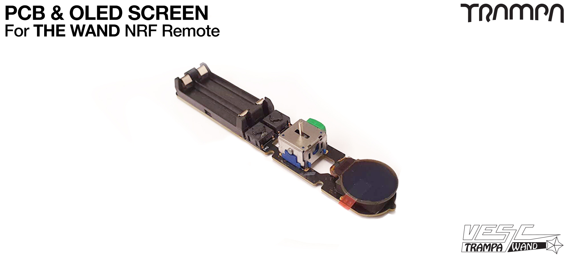 WAND - PCB from Including fitting OLED Screen