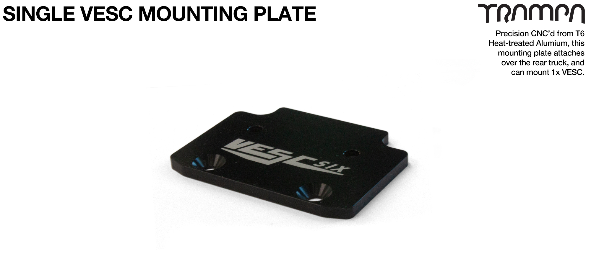 ALUMINIUM mounting Plate for Single VESC