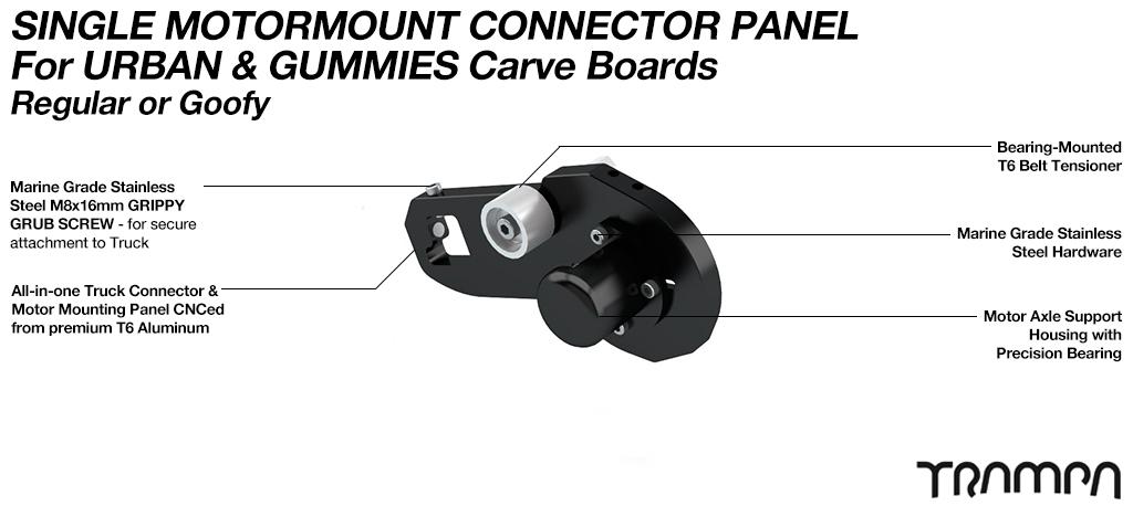 MkII URBAN & GUMMIE CARVEBOARD Motormount Connector Panel - SINGLE