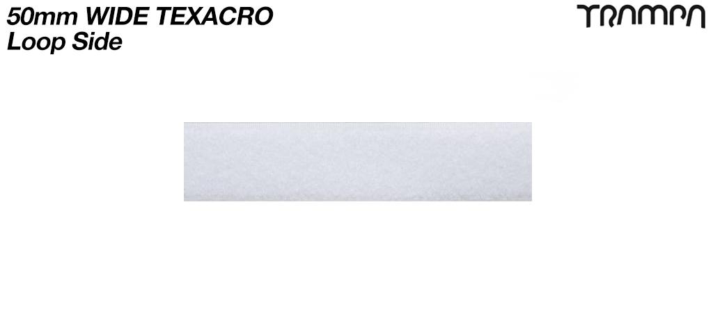 10cm's of 50mm wide White Texacro (hook & loop tape) - LOOP