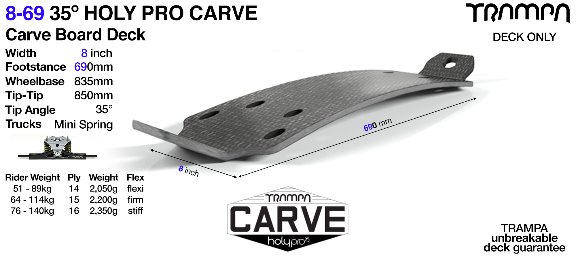 35° Original 9-69 HOLYPRO Carve Deck