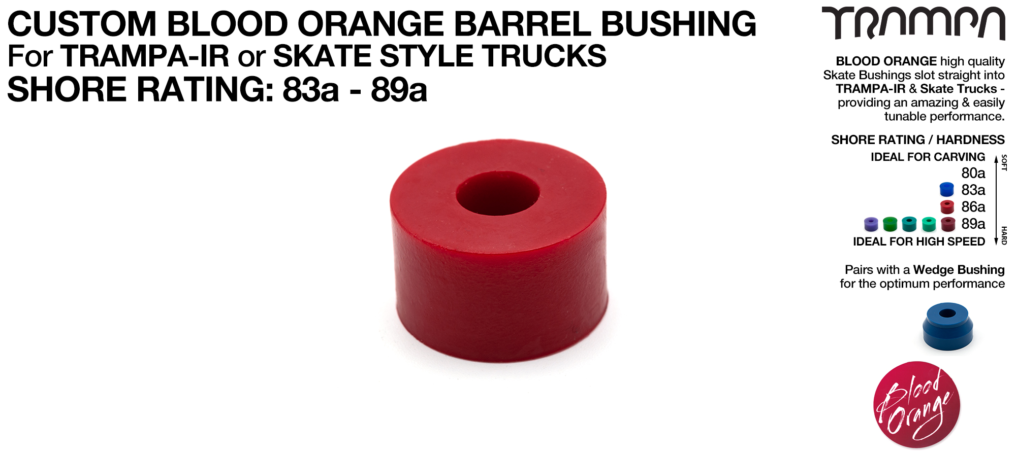 Custom Blood Orange Bushings