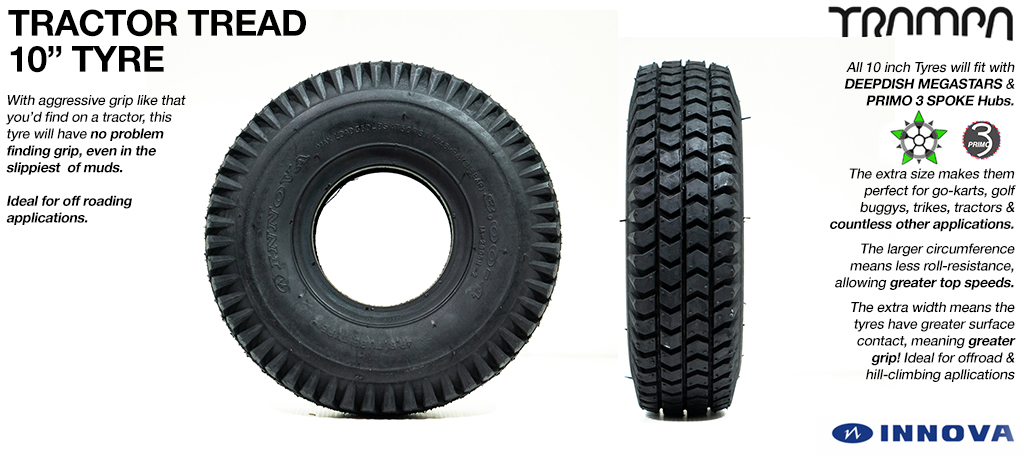 10 inch Tractor Tread Tyre