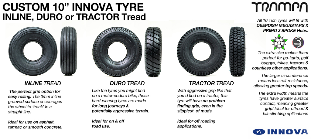 10 inch Tyres