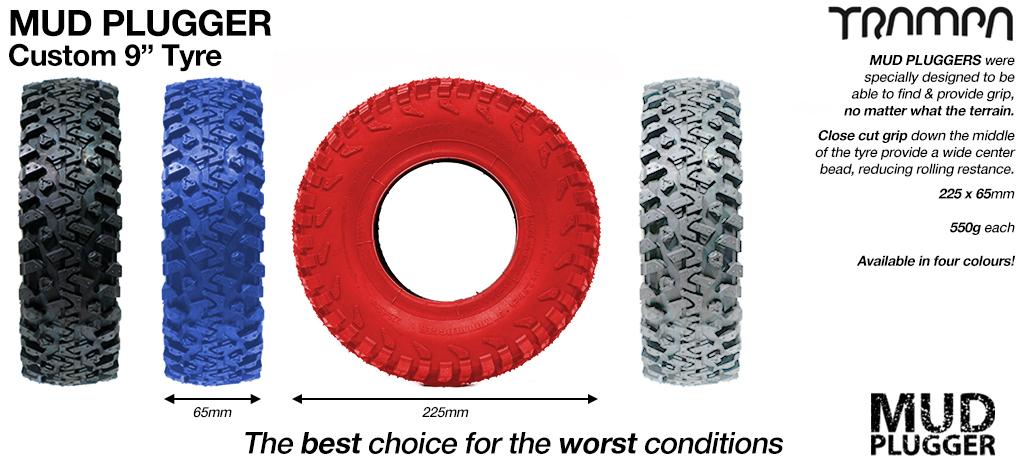 9 Inch TRAMPA Mudplugger Tyre
