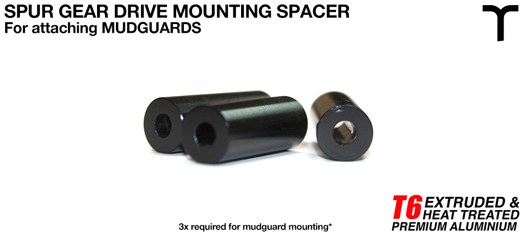 8 inch Mud Guard T6 Mounting Spacer V1 - SPUR GEAR DRIVE 4.1 Id x 10 od x 26 L