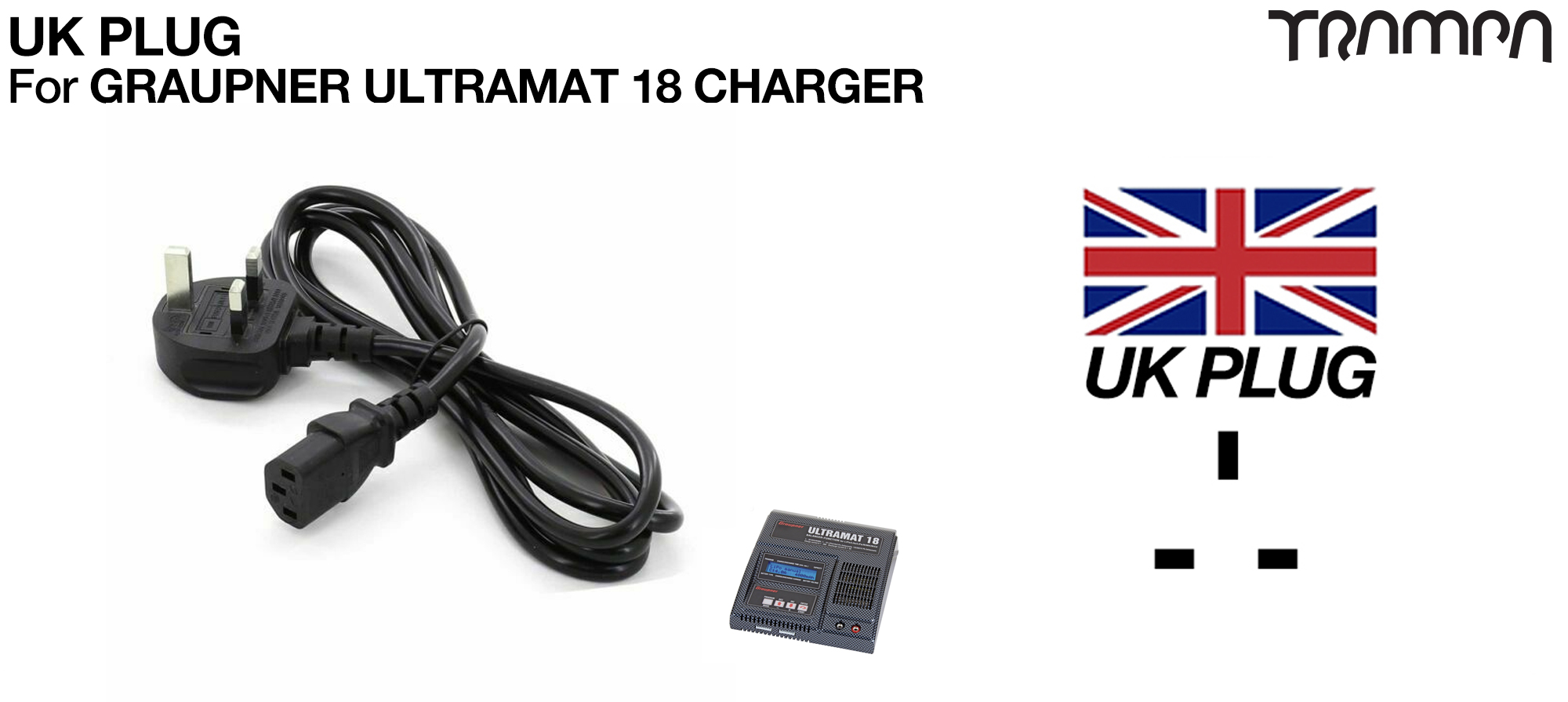 UK Plug for Graupner charger