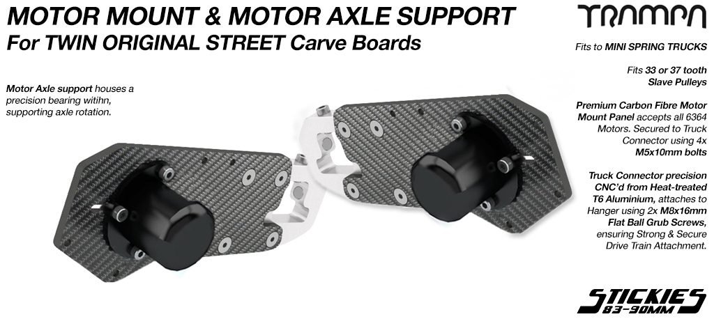 Original STREET Carver Motor Mount with Motor Axle Support kit - TWIN