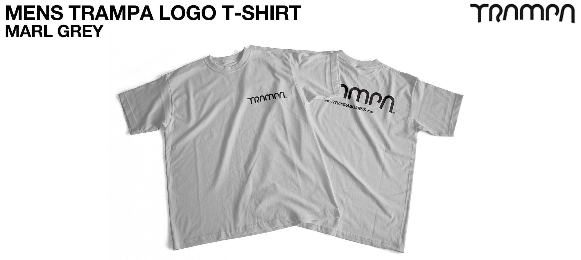 Gildan T Shirt Marl Grey with Black Logo