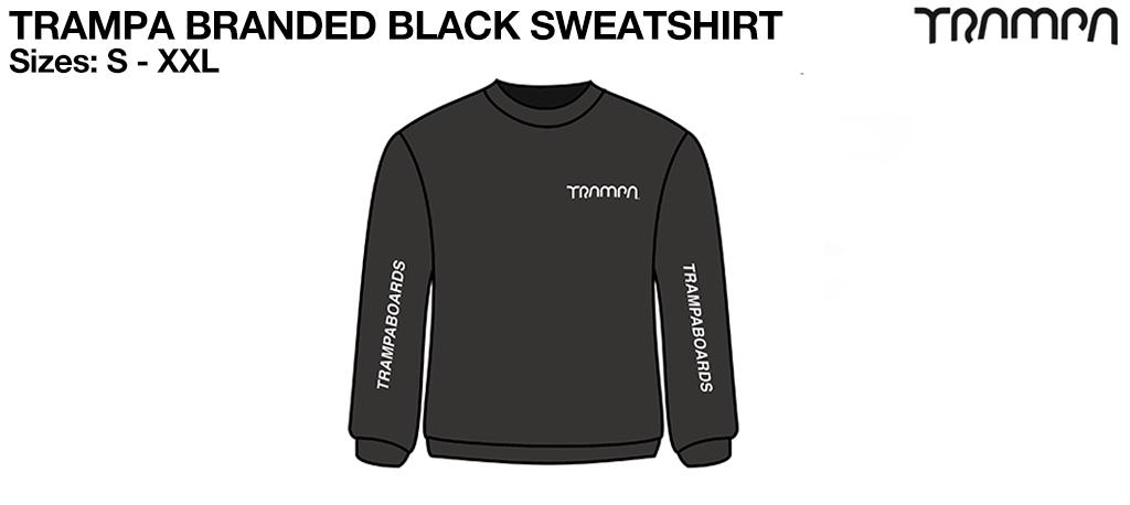 BLACK STARWORLD Ultimate Sweatshirt with Silver TRAMPA Logo's