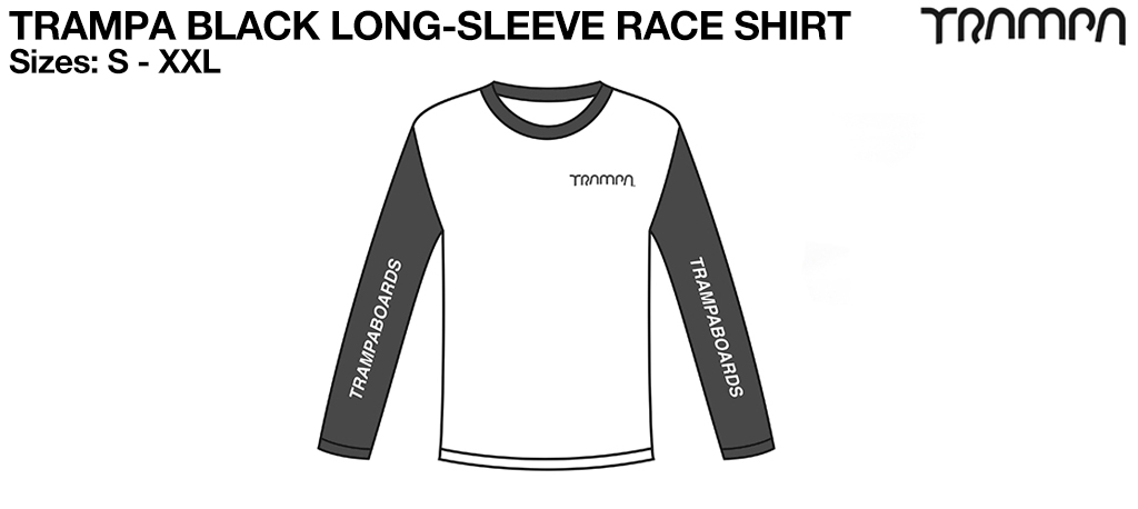 Fruits of the Loom Long Sleeve Race Shirt Black & White