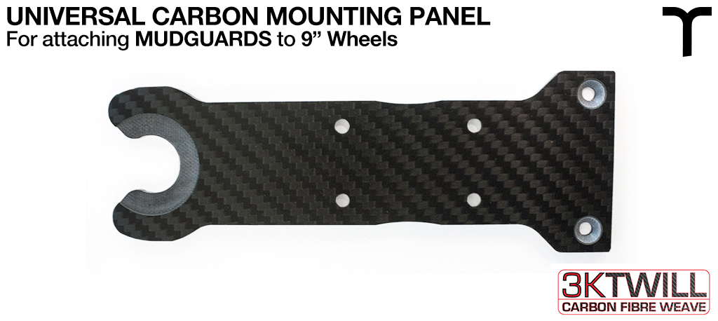 9 inch Mud Guard 4mm Carbon Fibre Mounting Panel - LEFT & RIGHT