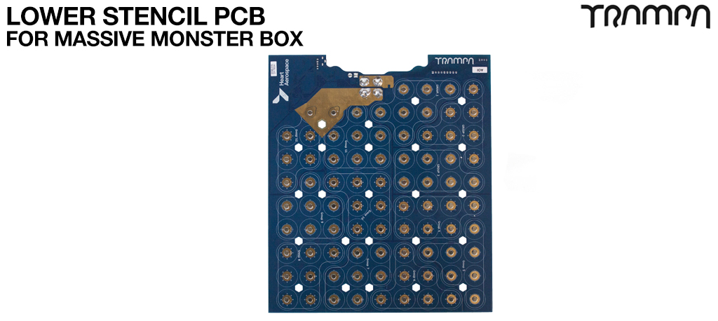 21700 LOWER PCB For TRAMPA's Massive MONSTER Box