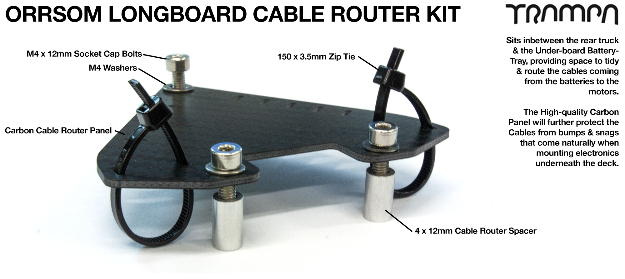 Orrsom Longboard Cable Routing Kit
